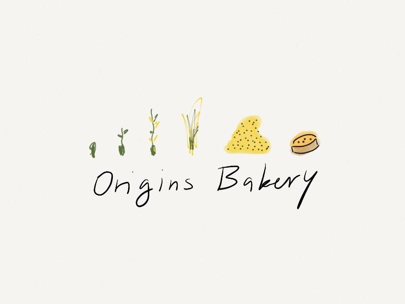 Origins Bakery Logo Concept concept design logo illustration