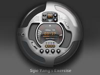 Skeuomorphism Music Player UI