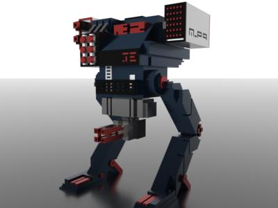 Voxel Battle Robot Concept (Part 1)