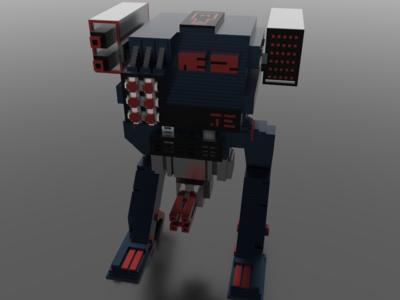 Voxel Battle Robot Concept (Part 2)