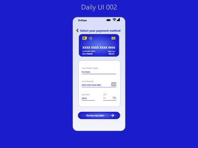 Daily UI 002 xd paymentmethod payment method checkout card checkout adobe figma adobe xd ux ui design