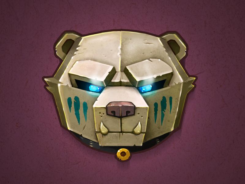 Bear Amulet jewelry glow texture icon photoshop amulet bear