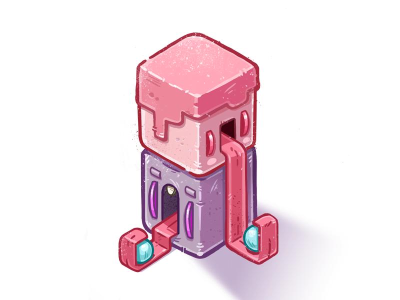 BubbleGumBoys isometric cartoon candy bubblegum sweet