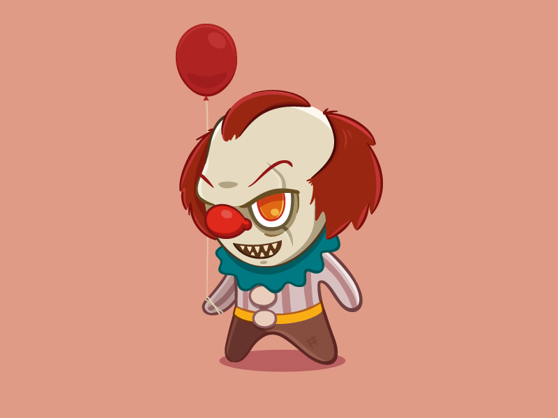 Clown vector circus it pennywise float clown
