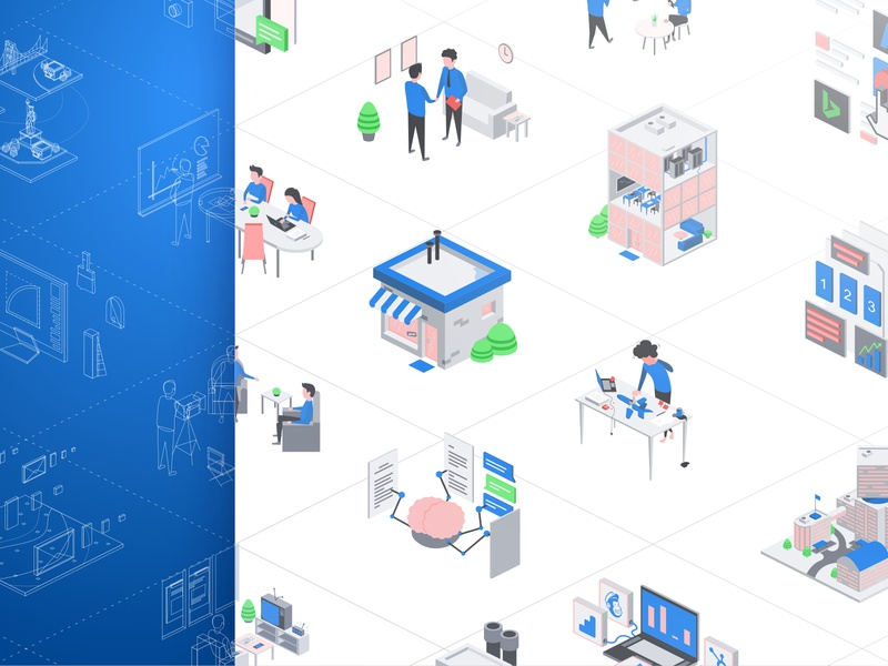 UI Illustration Pack art website outline cartoon character icon ux ui web illustration drawing app set pack company vector isometric simple flat