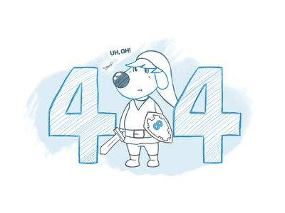 8theme Illustrations 404 anthropomorphic minimal flat landing hand website app branding art animal outline character simple ui brush cartoon web drawing illustration