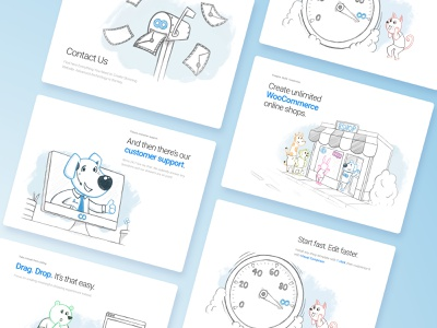 8theme Illustrations 404 anthropomorphic minimal flat landing hand website app branding art animal outline character simple ui brush cartoon web drawing illustration