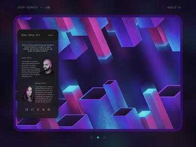 Spiffy Studio Website Concept v.01 abstract glow brush wallpaper isometric typography web app logo simple retro bright neon background illustration branding ux ui website web design