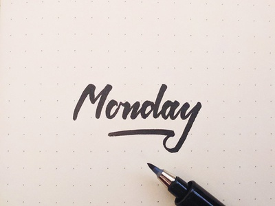 Monday it is