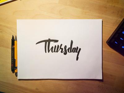 Thursday ayyy
