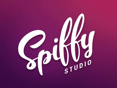 Spiffy Studio Logo Promo vector retro neon studio design debut drawing typography branding animation logo calligraphy lettering illustration
