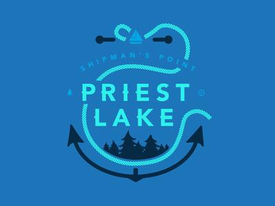 Priest Lake Anchor T-shirt