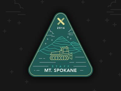 Mt. Spokane Staff Patch