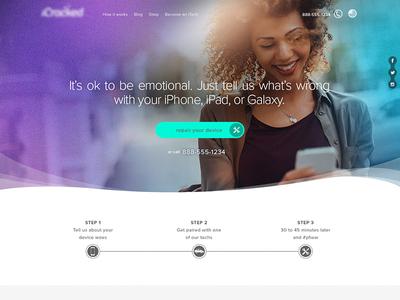iPhone repair desktop design