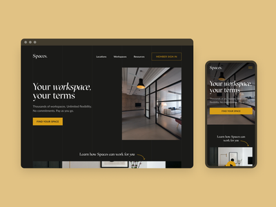 Landing Page Concept luxury coworking landing page web design landing web mobile design ux ui