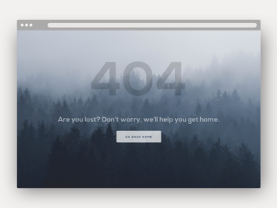 Daily UI #008 - 404 Error Page error 404 website application web design ui ux 006 challenge dailyui