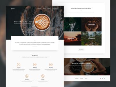 Coffee Shop Landing Concept website webpage webdesign web ux ui simple minimal landing explore concept coffee
