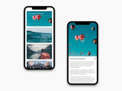 iPhone X Blog Exploration travel iphonex explore concept blog design product ui ux
