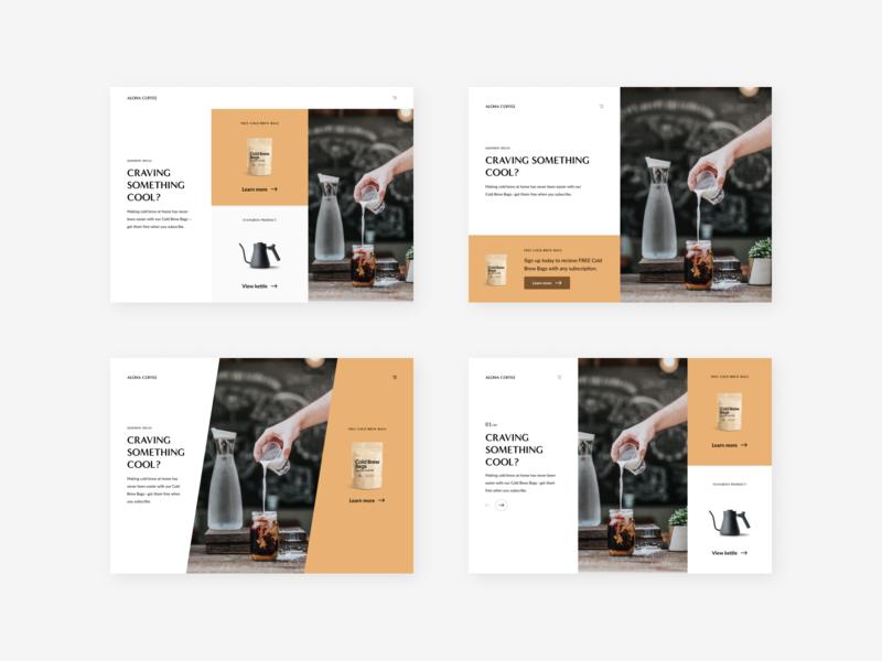 Minimal Coffee Shop Options whitespace minimalist minimal coffeeshop coffee landing web challenge dailyui design ux ui