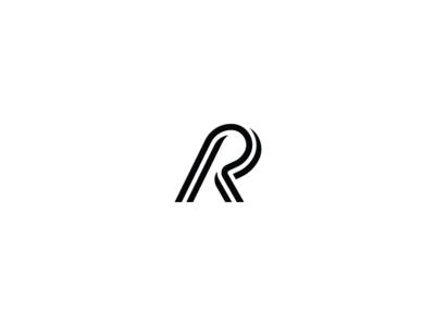 36 days of type - R black and white minimal minimal design graphic design typography logo design logo branding 36 days of type