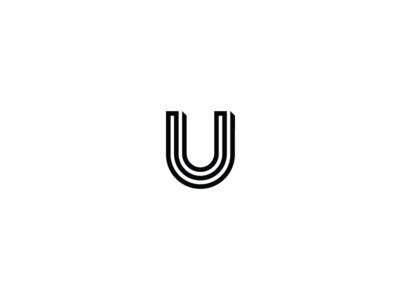 36 days of type -  U black and white minimal minimal design graphic design typography logo design logo branding 36 days of type