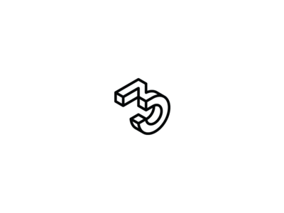 36 days of type - 3 3d isometric black and white minimal minimal design graphic design typography logo design logo branding 36daysoftype