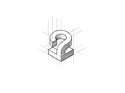 Isometric 2 graphic design branding logo design brand sketch logo grid 2 isometric