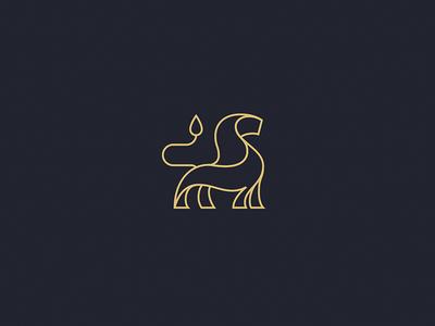 Minimal Lion minimalism logo design graphic design design branding minimal simple lion mark brand logo