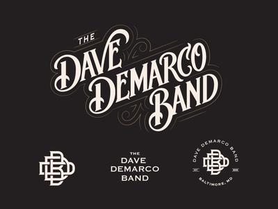 DDB Lettering and badge lock-ups hand lettered custom graphic design design monogram hand lettering lettering badge