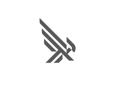 Minimal Falcon minimalism black and white minimal graphic designer graphic design logo design mark logo
