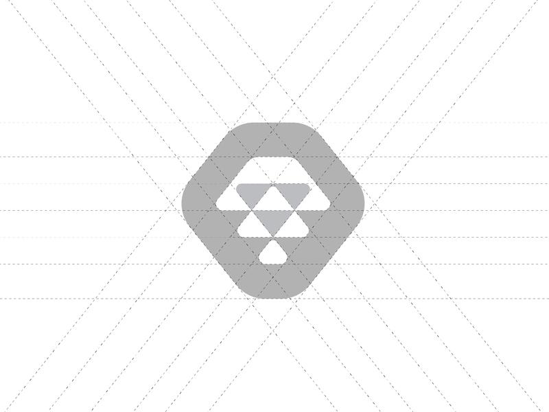 Lion Grid illustration grid vector animal simple negative space mark graphic designer minimalism isometric brand design typography minimal design minimal black and white logo design graphic design branding logo