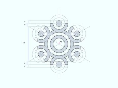 Roundtable Logo Construction graphic designer graphic design simplicity corporate modern structure minimalist designs minimal design simple brand identity logo design grid black and white branding brand minimal logo mark geometric