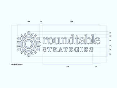 Final Roundtable lockup modern structure minimalist designs minimal design simple brand identity logo design grid black and white branding brand minimal logo mark geometric