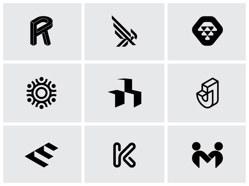 2018 Recap Dribbble 01 graphic designer brand mark illustration isometric design typography logo design graphic design black and white icon design branding minimalism minimalist logo design minimalist design minimalist logo brand identity logo