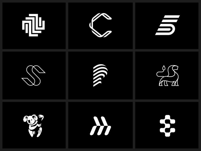 2018 Recap Dribbble 02 brand identity icon vector negative space minimalist mark minimalism simple graphic designer isometric design brand typography minimal design minimal black and white graphic design branding logo design logo