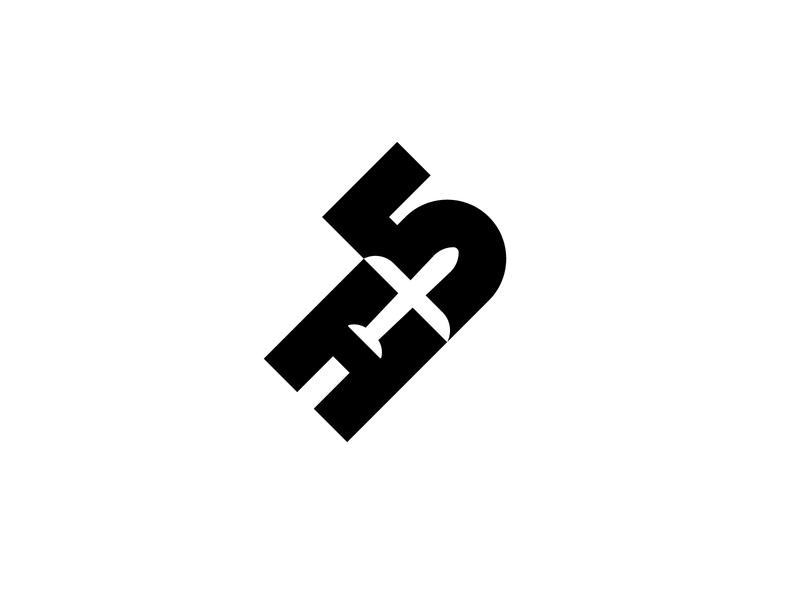 High 5 negative space mark branding design brand minimal graphic design minimal design logo design logo