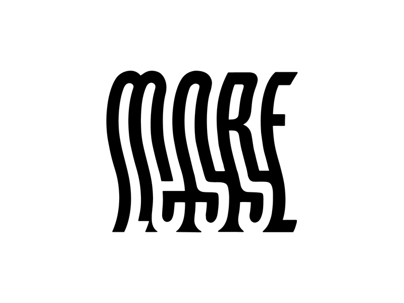 Less is more, more or less illustration design minimal design graphic design mmml handlettering type art typogaphy type negative space minimal lettering