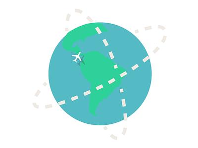 Globe plane globe world planet simply secure