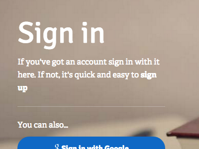 Sign in sign in login log in account register