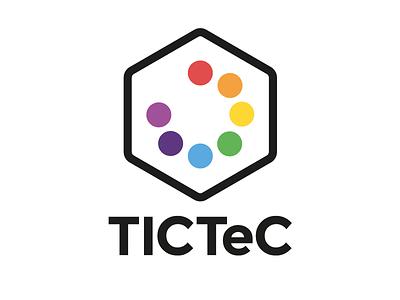 TICTeC logo montserrat simple flat polygon octagon hexagon diamond research logo brand