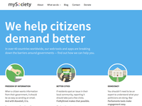 New homepage for mysociety.org
