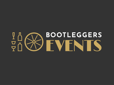 Bootleggers events old fashioned drinks events type vector logo