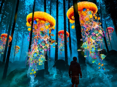 Electric JellyFish Revisited Forest Blue