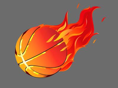Fire Ball Basketball