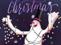 Free Merry Christmas Snowman Screensaver Wallpaper