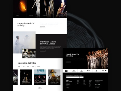 Speak Percussion Homepage Concept Detail website user experience website design web design ui design uiux ux ui home page homepage musician website music website musician concept australia melbourne performing arts percussion music