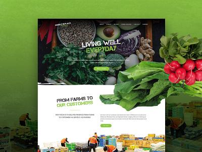Market Place Fresh UI Design user interface food website homepage home page australia melbourne food vegetable fruit market website design web design website ux ui uiux