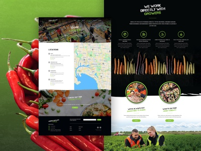 Market Place Fresh UI Design 02 homepage home page website website design web design user interface melbourne uiux ux ui market vegetable food website food australia