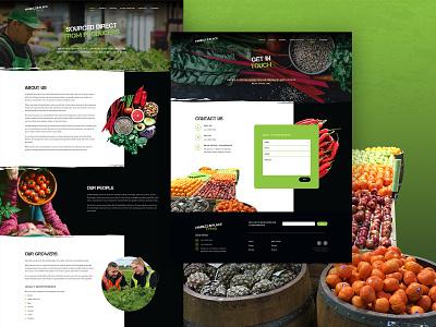 Market Place Fresh UI Design 03 user experience user interface digital design graphic design website design web design website market website market vegetable fruit about contact page contact about page uiux ux ui melbourne australia