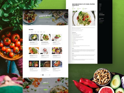 Market Place Fresh UI Design 04 blog page recipe page food website food website design website blog recipe market website market vegetable fruit user interface ux design ui design ux ui uiux melbourne australia